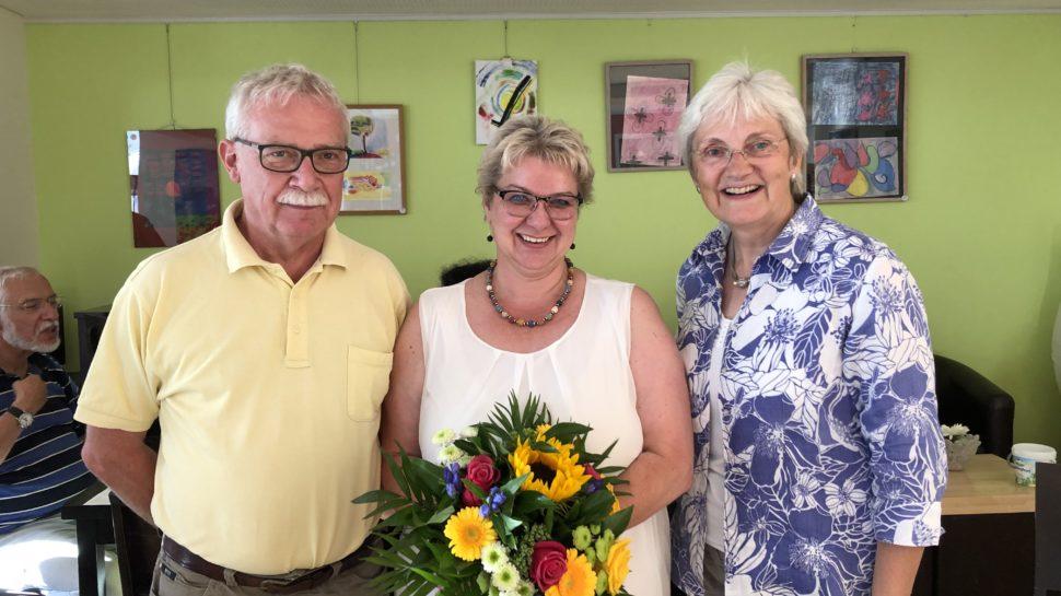 v.l.: Dr. Michael Grebner, Jutta Schiller und Heike Baehrens, MdB