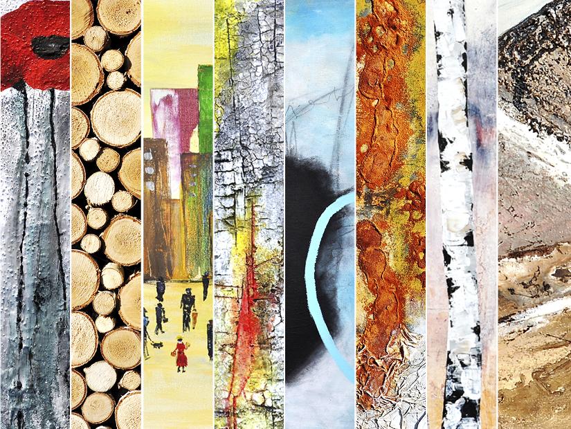 """Ausstellung  """"pArt of us"""" von acht Künstlerinnen aus Ottenbach ein. 8 Frauen – 8 verschiedene Stilrichtungen – Unterschiedliche Materialien und Maltechniken – Eine spannende Vielfalt  von Bildern"""